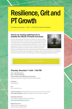 Resilience, Grit and PT Growth