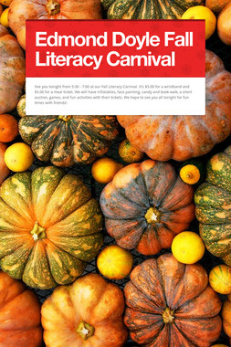 Edmond Doyle Fall Literacy Carnival
