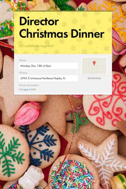 Director Christmas Dinner