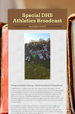 Special DHS Athletics Broadcast