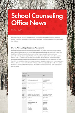 School Counseling Office News
