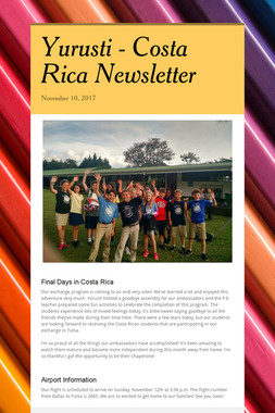 Yurusti - Costa Rica Newsletter