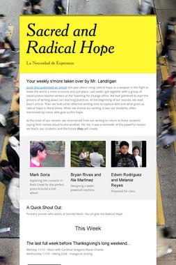 Sacred and Radical Hope