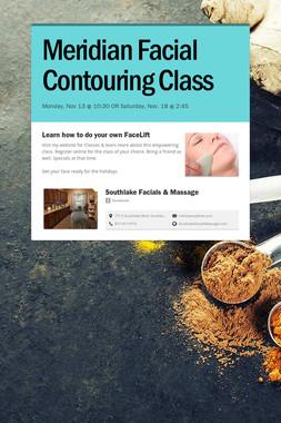 Meridian Facial Contouring Class