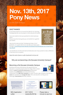 Nov. 13th, 2017 Pony News