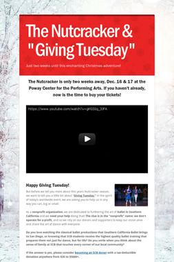 """The Nutcracker & """"Giving Tuesday"""""""