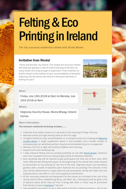 Felting & Eco Printing in Ireland