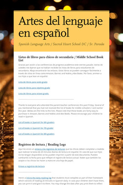 Artes del lenguaje en español