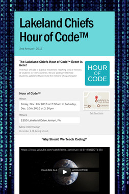 Lakeland Chiefs Hour of Code™