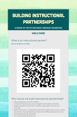 Building Instructional Partnerships