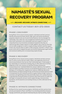 Namasté's Sexual Recovery Program