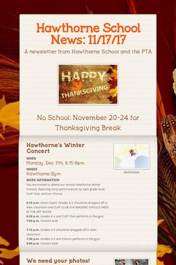 Hawthorne School News: 11/17/17