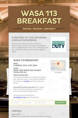 WASA 113 Breakfast