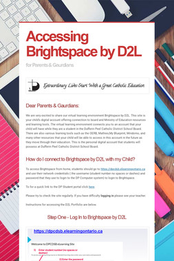 Accessing Brightspace by D2L