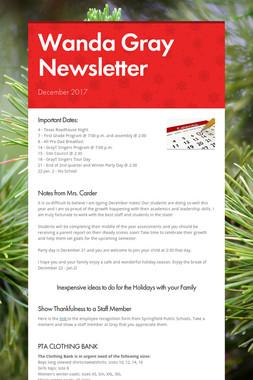 Wanda Gray Newsletter