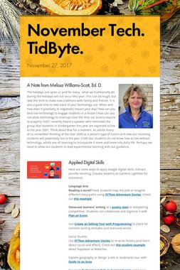 November Tech. TidByte.