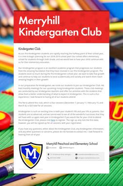 Merryhill Kindergarten Club