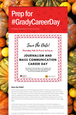 Prep for #GradyCareerDay