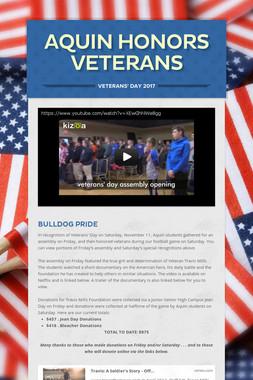 Aquin Honors Veterans