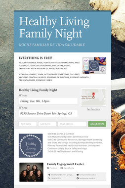Healthy Living Family Night