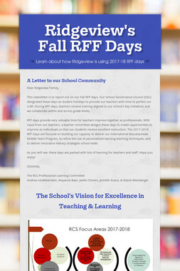 Ridgeview's Fall RFF Days