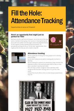 Fill the Hole:  Attendance Tracking