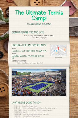 The Ultimate Tennis Camp!