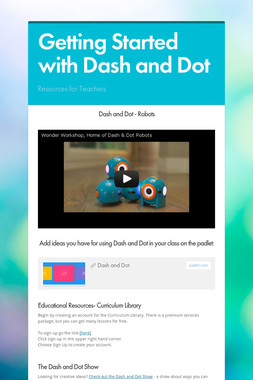 Getting Started with Dash and Dot