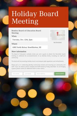 Holiday Board Meeting