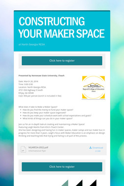 CONSTRUCTING YOUR MAKER SPACE