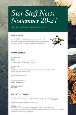 Star Staff News November 20-21