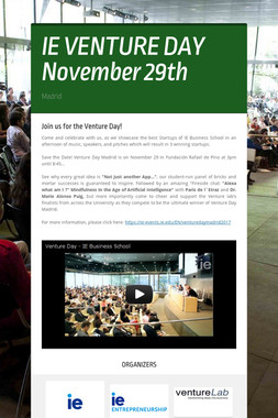IE VENTURE DAY  November 29th