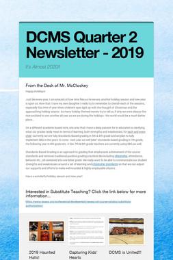 DCMS Quarter 2 Newsletter - 2019