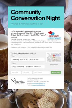 Community Conversation Night