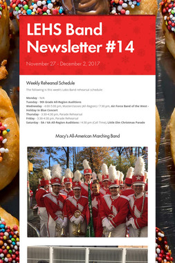 LEHS Band Newsletter #14