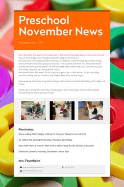 Preschool November News