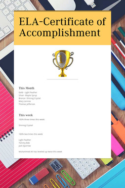 ELA-Certificate of Accomplishment