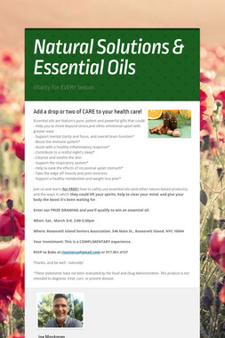 Natural Solutions & Essential Oils