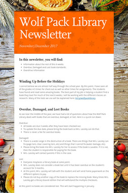 Wolf Pack Library Newsletter