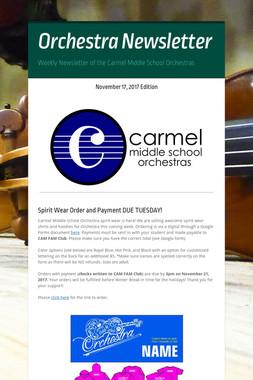 Orchestra Newsletter