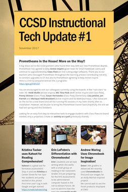 CCSD Instructional Tech Update #1