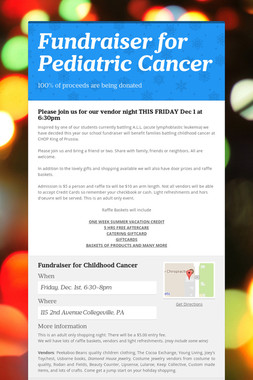 Fundraiser for Pediatric Cancer