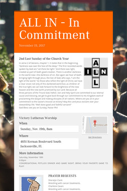 ALL IN - In Commitment