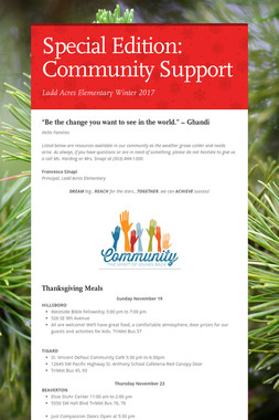 Special Edition: Community Support