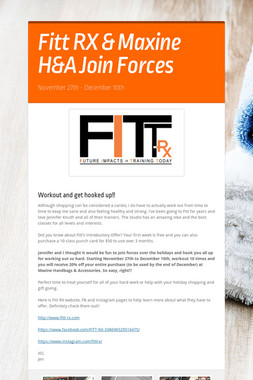 Fitt RX & Maxine H&A Join Forces