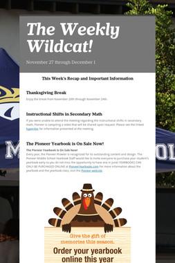 The Weekly Wildcat!