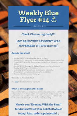 Weekly Blue Flyer #14   ⚓️