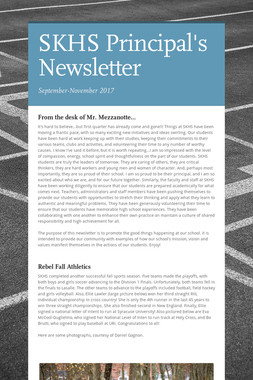 SKHS Principal's Newsletter