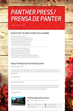 PANTHER PRESS / PRENSA DE PANTER
