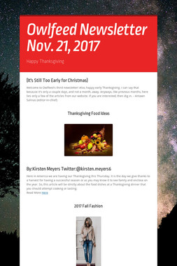 Owlfeed Newsletter Nov. 21, 2017